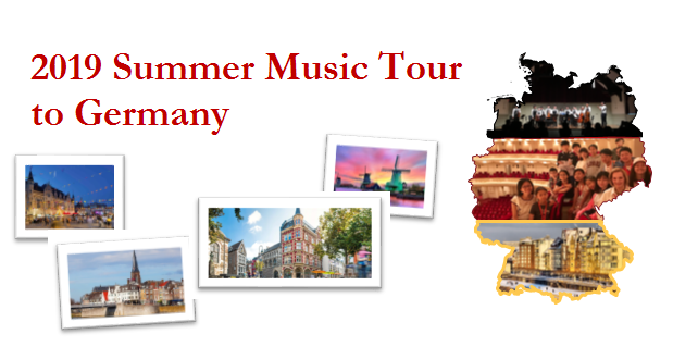 2019 Summer Music Tour  to Germany